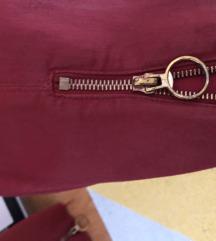 Zara matt kožne hlače