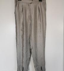 Srebrne retro hlače