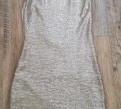 Srebrna mini haljina