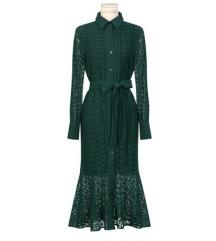 Nova midi čipkasta haljina s etiketom