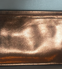 ZARA gold/bronze pismo torba