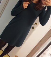 Bershka zelena haljina