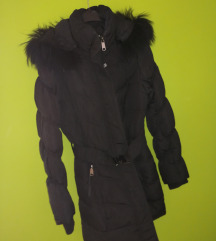 Crna zimska jakna xs/s