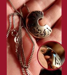 Srebrna 925 ogrlica i privjesak