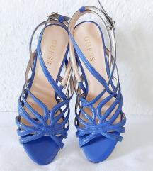 Plave sandale štikle GUESS 36 novo