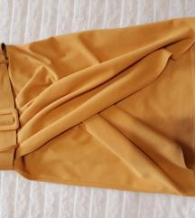 Žuta suknja na preklop