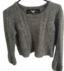 Superdry crop knit pulover S