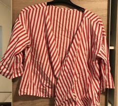 Zara prugasta košulja na vezanje