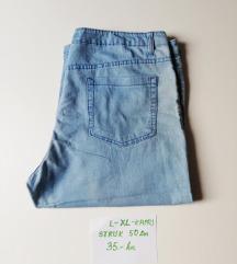 Plave ženske KAPRI traperice broj L - XL - LIV LEI
