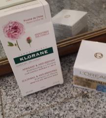 Novo-Klorane božur šampon i Loreal krema