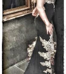 Svečana haljina crna sa šljokicama