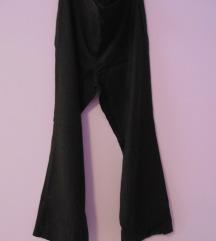 Vunene ženske crne hlače