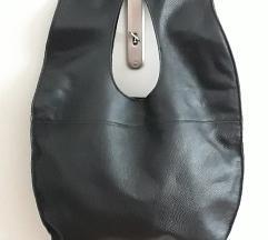 Crna torba od prave kože