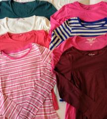 Lot od 8 majica dugih rukava