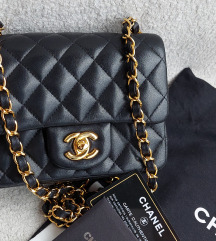Chanel square mini lambskin original