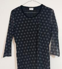 Biaggini ženska crno-siva bluza s cvjetnim uzorkom