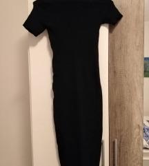 Uska crna midi haljina