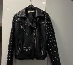 MANGO kožna jakna (100% koža) - fleks.cijena