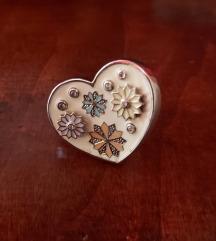 NOVI Una storia prsten - emajl i srebro SNIŽEN
