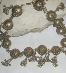 ogrlica masivna tibetansko srebro