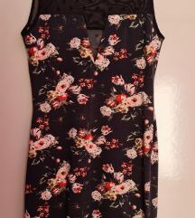 H&M cvjetna haljina bez rukava s čipkom