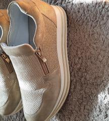 Zlatne,bež tenisice/cipele 38