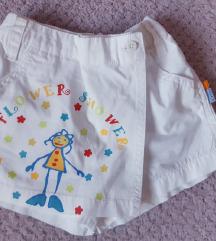 Kratke (suknja)hlače za djevojčice