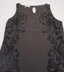PROMOD tamno siva tunika-haljina