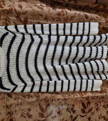 Cozy striped sweater dress