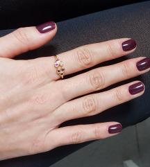 prsten srebro s pozlatom