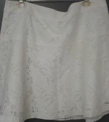 NY&Co Bijela Cipkasta Suknja