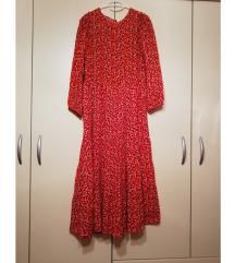 Duga crvena haljina Zara REZ
