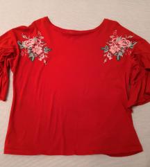 Orsay crvena majica širokih rukava