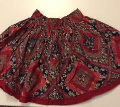 Mini suknja tamnoplavo crvena S