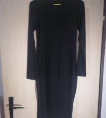 Zara duga uska tamnoplava haljina