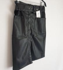 Kožna suknja (Asos) - novo s etiketom