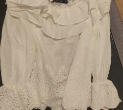 Zara bijela off shoulder bluza M