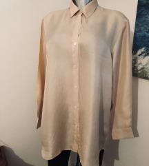 Zara košulja bluza tunika 100% Svila Bež Novo