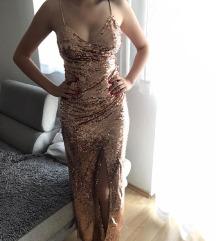 Nova, nenošena rose gold haljina