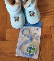 Novo vezica+tople cizme za bebe