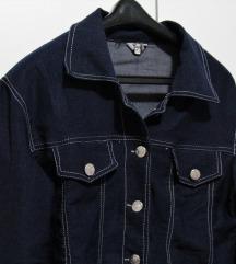 Tamno plava traper jakna