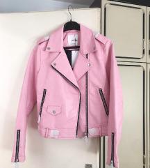 NOVA Mango roza kozna jakna s etiketom! 💖🌸