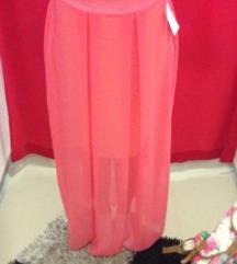 Duga suknja roza