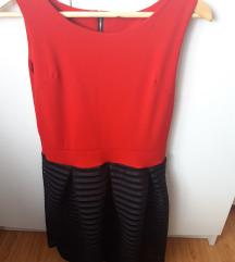 Crveno crna haljina