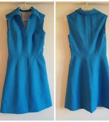 Plava retro haljina