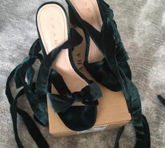 Zara baršunaste sandale