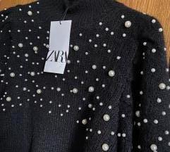 Zara pulover sa bisernim perlama M