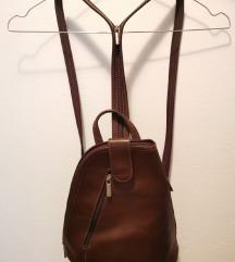 Smeđi kožni ruksak