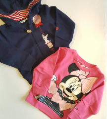 H&M 2x majice vel. 92 ( 1,5 - 2 god)