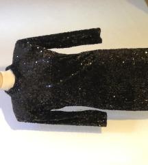 Zara Crna Mini Haljina na Sljokice NOVA